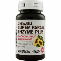 American Health Super Papaya Enzyme Plus Chewable 90 Chewable Tablets