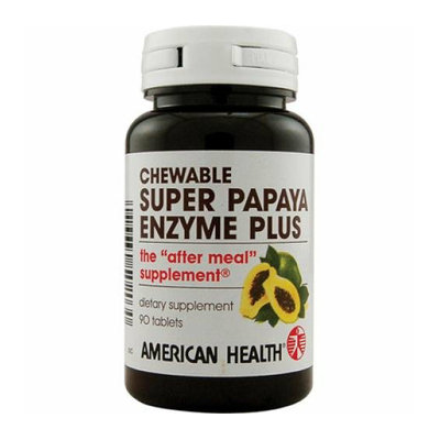 American Health Super Papaya Enzyme Plus Chewable 90 Chewable Tablets