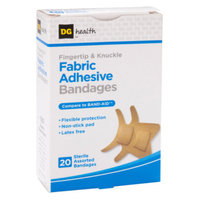 DG Health Adhesive Bandages - Fingertip & Knuckle, 20 ct - Assorted Sizes