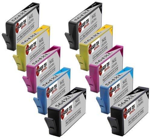 Laser Tek Services 10 Pack HP 564XL (HP 564) CB321WN, CB322WN, CB323WN, CB324WN, CB325WN