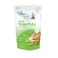 Plum Organics Fruity Fingerfuls, Apples, 0.70-Ounce Pouches (Pack of 8)
