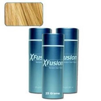 3 Pack Special - XFusion Keratin Hair Fibers - Blonde - Thickens Balding or Thin Hair - 25g