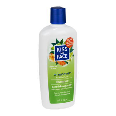 Kiss My Face Sampoo Whenever for All Hair Types Green Tea & Lime