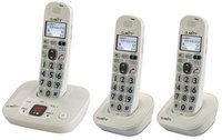 Clarity D712 + (2) D702HS D712 Amplified Cordless Big Button Phone w/A