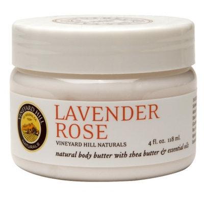 Vineyard Hill Naturals Natural Body Butter, Lavender Rose, 4 fl oz