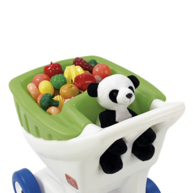Step2 Little Helpers Shopping Cart with Green Basket