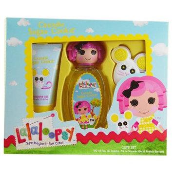 Lalaloopsy Crumbs Sugar Cookie Cute Coffret: Eau De Toilette Spray 100ml/3.4oz + Shower Gel 75ml/2.5oz + French Barrette 3pcs