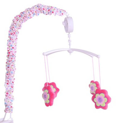 Bacati Pink/Purple Fairy Land Musical Mobile