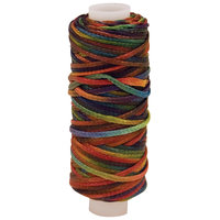 Leather Factory Waxed Metallic Look Braided Cord, 25 Yd Spool, Multi