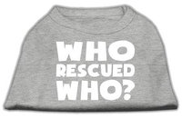 Ahi Who Rescued Who Screen Print Shirt Grey XS (8)