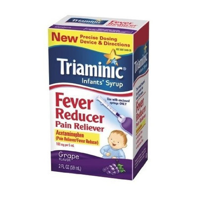 Triaminic Infant Syrup Fever Reducer Pain Reliever, Grape, 2 Ounce (Pack of 2)