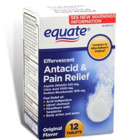 Equate Effervescent Antacid and Pain Relief 12 Tabs Compare to Alka Seltzer