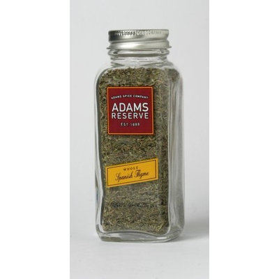 Adams Extracts Spanish Thyme, Whole, 0.91-Ounce Glass Jar (Pack of 6)