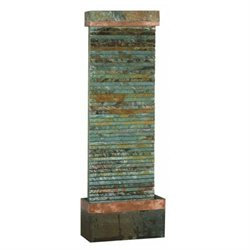 Kenroy Home Castle Rock Floor Fountain Slate Copper Finish - 50265SLCOP