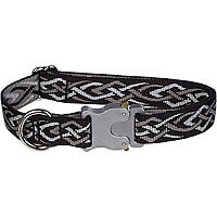 Bison Pet Bulldog Black Thorn Adjustable Dog Collar