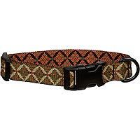 Bison Pet Rhombus Adjustable Nylon Dog Collar