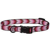 Bison Pet Eco Pinkie Zig Zag Dog Collar