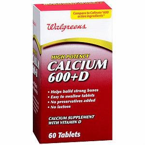 Walgreens Calcium 600mg+D Tablets