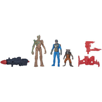 GUARDIANS OF THE GAL Marvel Guardians Of The Galaxy 3-Pack Groot, Rocket Raccoon And Nova Corps Officer Action Figures