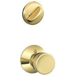Schlage F59BEL605 Polished Brass Bell Bell Single Cylinder Interior