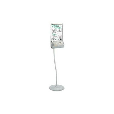 Safco SAF4262SL Silver Floor Hygiene Station with Stand Silver