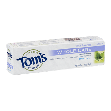 Tom's Of Maine Whole Care Flouride Toothpaste Spearmint