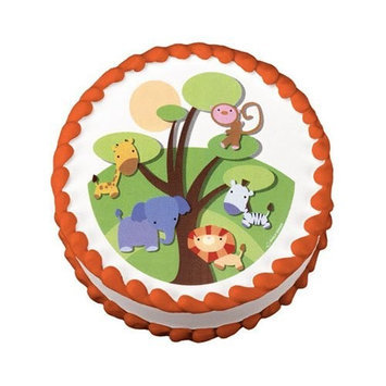 Luck's Little Safari Jungle Animals Edible Image Cake Decoration Topper