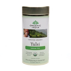 Organic India Tulsi Herbal Supplement Tea Loose Leaf Canister