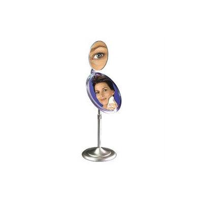 Zadro Vanity Pedestal Swivel Vanity Mirror with 5x Magnification