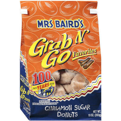 Mrs. Baird's Mrs Baird's: Grab N' Go Favorites Cinnamon Sugar Donuts, 10 Oz