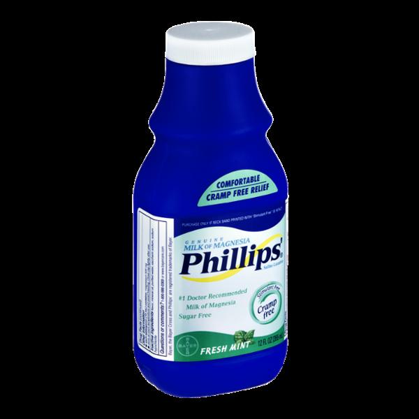 Phillips Milk of Magnesia Fresh Mint Saline Laxative
