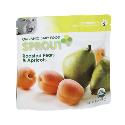 Sprout Intermediate Roasted Pears & Apricots Organic Baby Food
