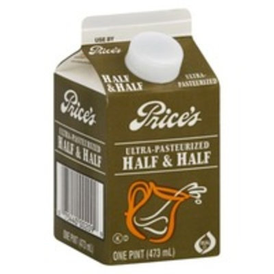 Price's Ultra-Pasteurized Half & Half 1 pint