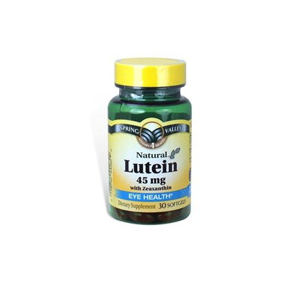 Spring Valley Lutein with Zeaxanthin Dietary Supplement Softgels, 45mg, 30 count