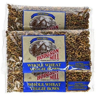 Hodgson Mill Whole Wheat Veggie Bows, 16-Ounce (Pack of 12)