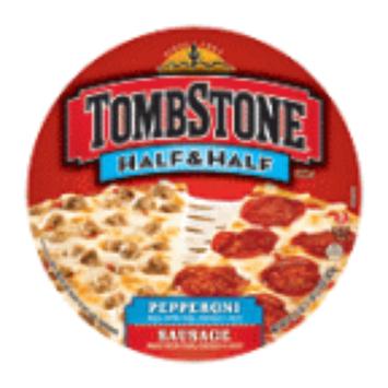 Tombstone Pizza Half & Half Pepperoni & Sausage