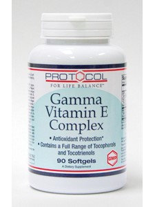 Gamma Vitamin E Complex 90 gels by Protocol For Life Balance