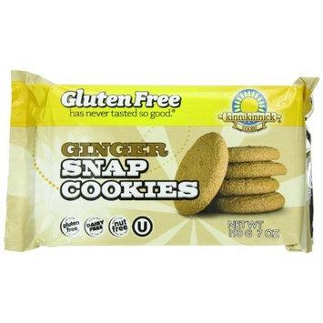 Kinnikinnick Foods Gluten-Free Cookies, Ginger Snap Cookies, 7-Ounce Bags (Pack of 6)