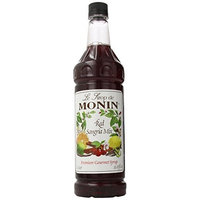 Monin Flavored Syrup, Red Sangria Mix, 33.8-Ounce Plastic Bottles (Pack of 4)