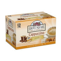 Grove Square Cappuccino, Caramel, 12 Single Serve Cups (Pack of 3)