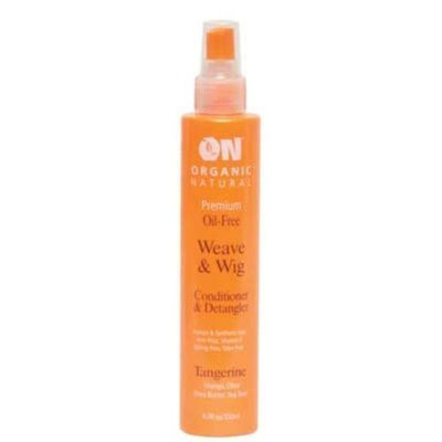 ON Organic Natural Premium Oil-Free Weave & Wig Conditioner & Detangler Tangerine 2.0 fl oz