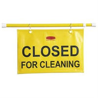 Rubbermaid 9s1500yw Closed For Cleaning Safety Hanging Sign - closed For Cleaning Preprinted - Yellow