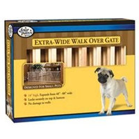 Four Paws Extra Wide Walk Over Wooden Slat Gate