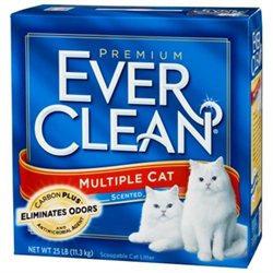 Clorox Petcare 71222 Ever Clean Multi-Cat Litter - 25 Lbs.