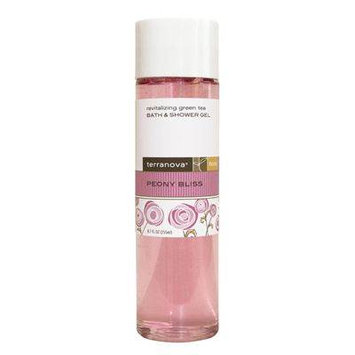 TerraNova Peony Bliss Revitalizing Green Tea Bath Shower Gel