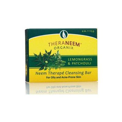 Organix South TheraNeem Naturals Cleansing Bar Lemongrass and Patchouli - 4 oz