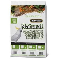 ZuPreem Natural Premium Daily Bird Food for Conures & Parrots: 20 lbs