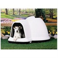 Petmate Indigo Dog House with Microban - Taupe Top/Black Bottom - Medium
