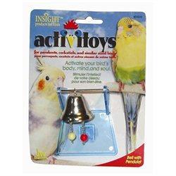JW PET COMPANY BJW31010 Activtoys Bell Wth Pendulot Bird Toy