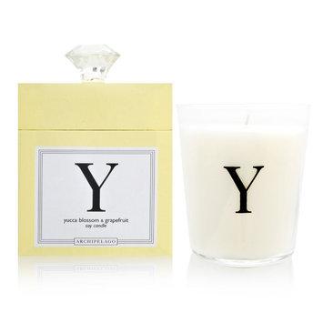 Archipelago Botanicals Archipelago Monogram - Y (Yucca Blossom & Grapefruit) Candle